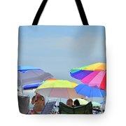 Coast Guard Beach Umbrellas Tote Bag
