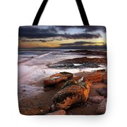 Coastline At Twilight Tote Bag