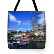 Cobh Cathedral & Harbour, Co Cork Tote Bag