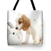 Cocker Spaniel And Rabbit Tote Bag
