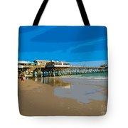 Cocoa Beach Pier Florida Tote Bag