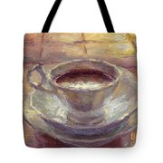 Coffee Cup Still Life Painting Tote Bag