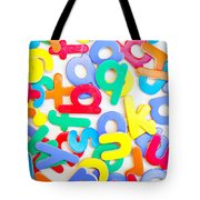 Colorful Letters Tote Bag