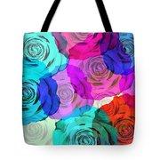 Colorful Roses Design Tote Bag