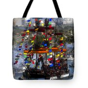 Colors Of Gasparilla Tote Bag by David Lee Thompson
