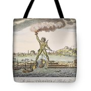 Colossus Of Rhodes Tote Bag by Granger