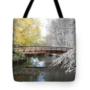 Composite Of Fall And Winter Tote Bag