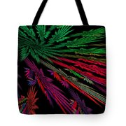 Computer Generated Red Green Abstract Fractal Flame Modern Art Tote Bag