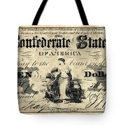 Confederate Banknote Tote Bag