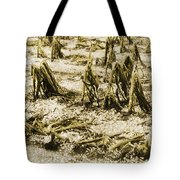 Cornfield After Hailstorm Tote Bag