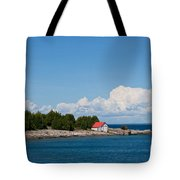 Cove Island Lighthouse Tote Bag