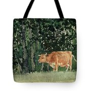 Cow In Pasture Tote Bag