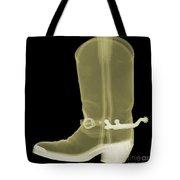 Cowboy Boot X-ray Tote Bag