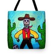 Cowboy Dia De Los Muertos Tote Bag