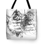 Cradling Kittens Tote Bag