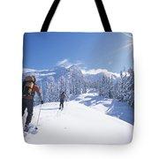 Cross-country Skiers In The Selkirk Tote Bag