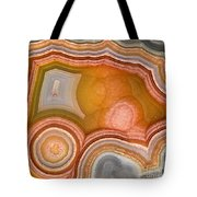 Cross-section Of Mexican Agate Tote Bag