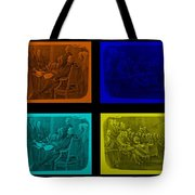 Declaration Of Independence In Quad Colors Tote Bag by Rob Hans