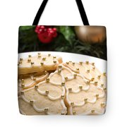 Decorated Cookies In Festive Setting Tote Bag