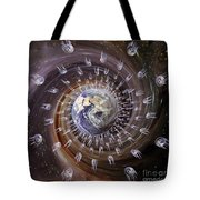 Digitally Enhanced Image Of The Earth Tote Bag