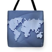 Digitally Generated Image Of The World Tote Bag