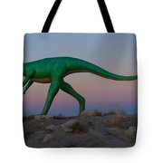 Dinosaur Loose On Route 66 Tote Bag