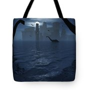 Dinosaurs Feed Near The Shores Tote Bag