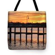 Dock Sunset Tote Bag