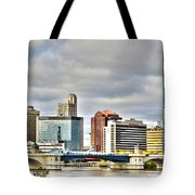 Downtown Toledo Riverfront Tote Bag