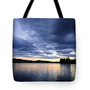 Dramatic Sunset At Lake Tote Bag
