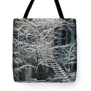 Drolet Street In Winter, Montreal Tote Bag