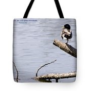 Duck On A Log Tote Bag