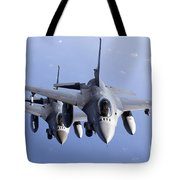 Dutch F-16ams During A Combat Air Tote Bag
