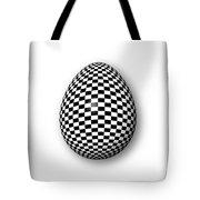 Egg Checkered Tote Bag
