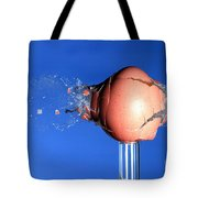 Egg Hit By A Bullet Tote Bag