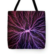 Electrical Discharge Lichtenberg Figure Tote Bag