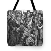 England: Burning At Stake Tote Bag by Granger