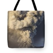 Eruption Of Ash Cloud From Mount Bromo Tote Bag
