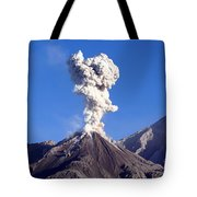 Eruption Of Ash Cloud From Santiaguito Tote Bag