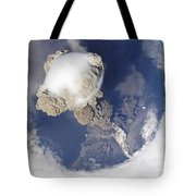 Eruption Of Sarychev Volcano Tote Bag