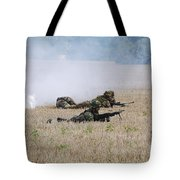 Evacuation Of A Wounded Soldier By An Tote Bag