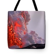 Explosion Of Lava, Ash, And Steam Tote Bag