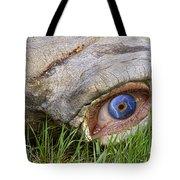 Eye Of A Dinosaur Lightning Tote Bag