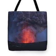 Eyjafjallajökull Eruption, Iceland Tote Bag