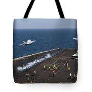 Fa-18f Super Hornets Launch Tote Bag