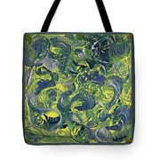 Faces In Abstract Tote Bag