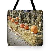 Fall  Halloween On Tillson Street Tote Bag
