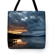 Fall Sunset Over Lake Pend Oreille Tote Bag