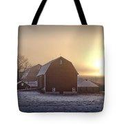 Farm Winter Sunrise Tote Bag
