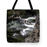Fast Moving Firehole River Tote Bag